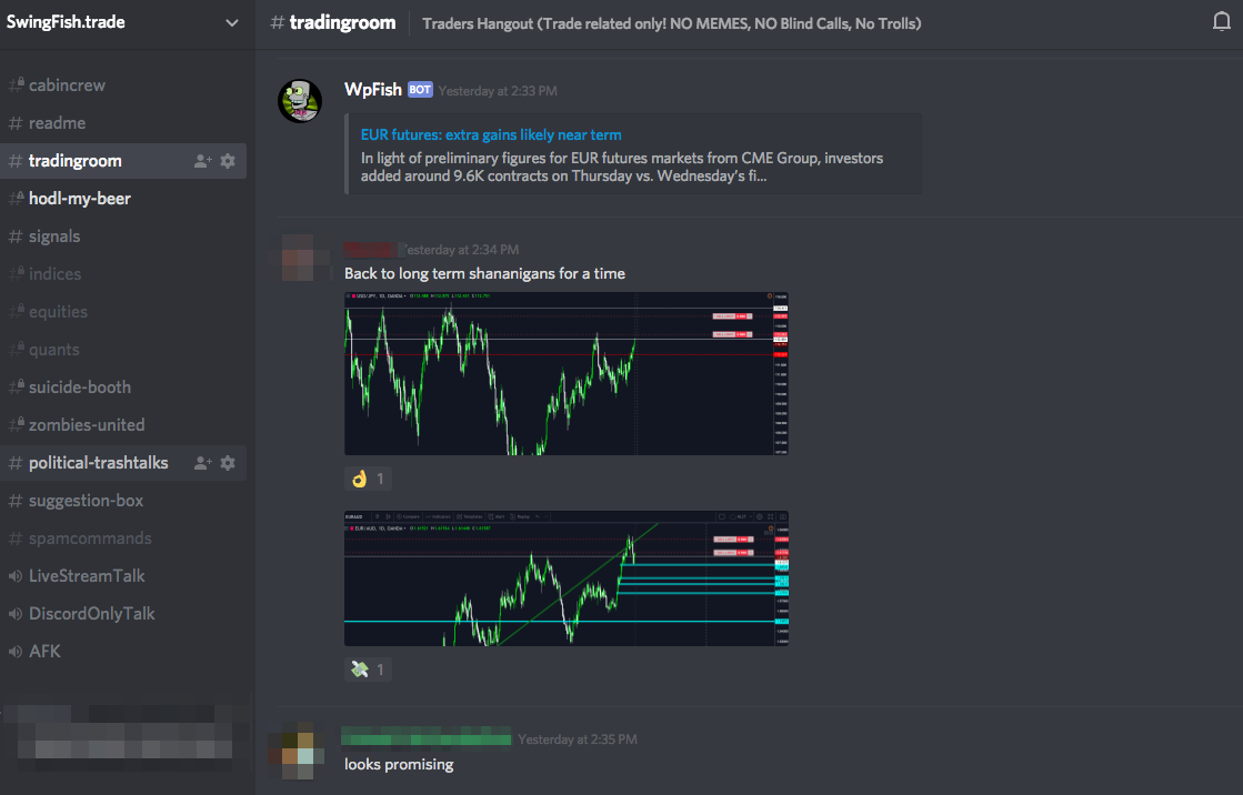 Forex trading chat room